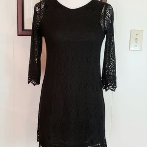 Divided Black Dress